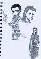 Random Loki Sketches by Scribblerb