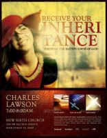 Receive Your Inheritance Church Flyer Template by loswl