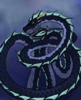 Serpent doodle, colored by lordmuu