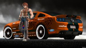 Ford-Shelby Mustang GT500 Hwoarang spec pic 1 by girabyte225-jc-lover