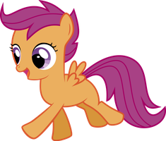 Scootaloo Happy Prance Vector by StarshineCelestalis