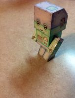 Chibi paper craft robot (Mark Crilley) by emma23416