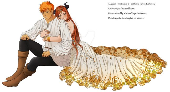 The Hunter and The Queen - Ichigo and Orihime by sr625sw