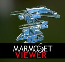 3D Mecha viewable in Marmoset Viewer by Mick2006