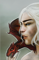 Daenerys Targaryen preview by joshcmartin