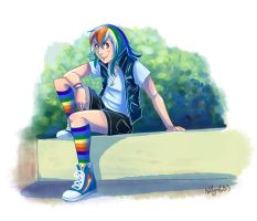 Another Rainbow Dash... by Adlynh
