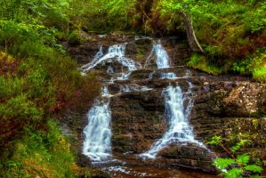 Plodda Falls, Scotland by Raiden316