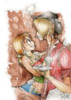 Sanji and Nami by DarKNisE