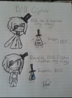 Bill Cipher doodles by FabulousandDumbness1