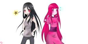 Marceline And Bubblegum Colour by MikachuKuro
