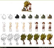 Pixel Art Tutorial Chart by ConceptCookie