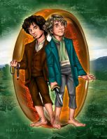 Frodo and Pippin by kheelan