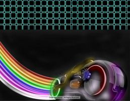 Rainbow lightcycle by TronPhantom