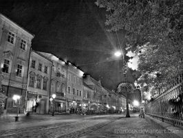 Main Street at Night by sparcosk
