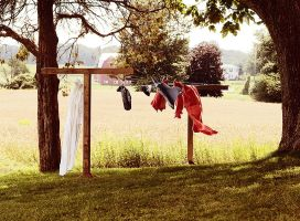 A Day On Set: The Clothesline by usagicassidy