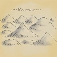 Mountains for a fantasy map. by billiambabble