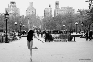 ballerina in washington square park, nyc by gunthegun