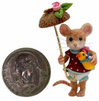MOUSE APRIL SHOWER PARASOL by WEE-OOAK-MINIATURES