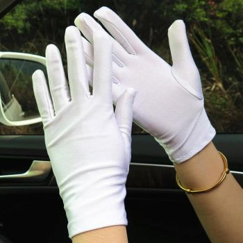 White satin gloves by 1982colin