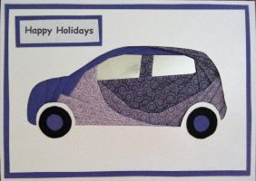 paperiris folded car for the Holiday Card Project by fledglingartist