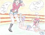 Ashley Spinelli Vs Starfire Boxing! by CartoonWomenBoxing