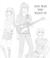 AWYWI:Kanda, Allen and Lenalee by Shoychan