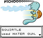 SQUIRTLE used WATER GUN by Drewdini