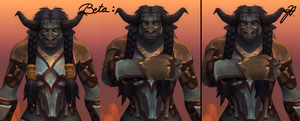 I dislike the new (Beta) female Tauren Snout! by Niahawk