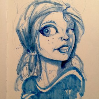 Girl sketch by Pencilbags