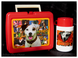 Wishbone - Red Plastic Lunchbox And Thermos by The-Toy-Chest