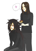 Madara  vs Hashirama by Lailamon