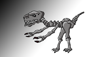 Dinosaur Skeleton - PS try by profil10