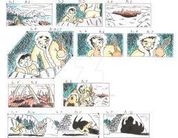Heroic Story, color storyboard samples 1 by Animator-who-Draws