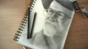 Sir Terry Pratchett by JessicaDunn