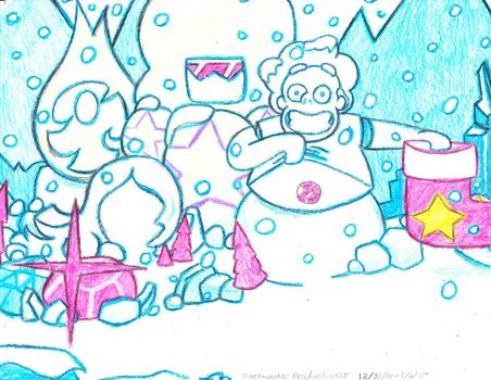 Seasons Greetings From Steven And The Crystal Gems by Suemoons