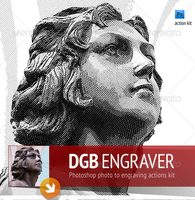 Engrave Photoshop Actions Kit by freebiespsd