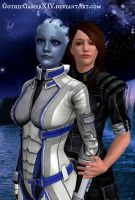 My blue rose of Thessia by GothicGamerXIV