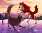 Balto and Jenna by tweakfox