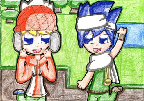 Poto and Cookie in Role Village (Pop'n Music) by Daniela56438
