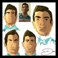 Tommy Vercetti Sketches by theblastedfrench