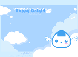 Happy Onigiri Wallpaper by MagicalBunny