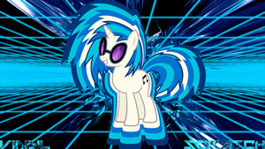 Vinyl Scratch DJ-P0N3 'Virtual' Wallpaper by BlueDragonHans