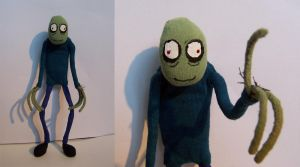 Salad Fingers Doll by GrungeIndiani