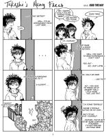 Takeshi's Many Faces Pg. 1 by crystilmitsuru