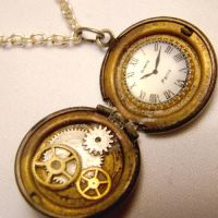Itty Bitty Pocketwatch Locket by SteamSociety