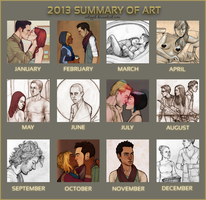 2013 Summary of Art by artgyrl