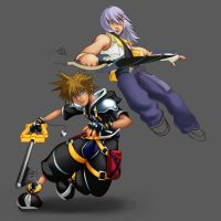 Sora and Riku Progress IV by Daydreamer-520
