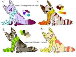 CLOSED - Foxes Adoptables 57 by LeaAdoptables
