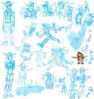 Jak and Daxter doodle galore by Ratchetl-Lover