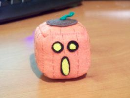 Pumpkin Cube Plushie by Cube-lees